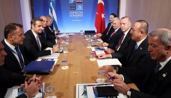 Ολοκληρώθηκε η συνάντηση Μητσοτάκη-Ερντογάν στο Λονδίνο