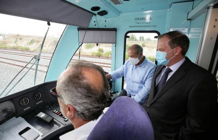 Κ. Αχ. Καραμανλής: Εγκαίνια της νέας διπλής σιδηροδρομικής γραμμής Κιάτο - Ροδοδάφνη