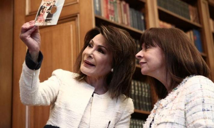 Συνάντηση Σακελλαροπούλου - Αγγελοπούλου για «Ελλάδα 2021» (φωτογραφίες)