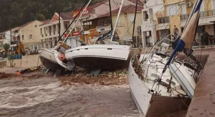Κεφαλονιά: 43 σκάφη σκάφη βύθισε η κακοκαιρία Ιανός