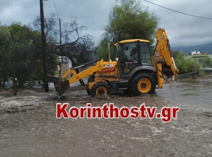 Πλημμύρισαν σπίτια και έκλεισαν δρόμοι στην Κορινθία! (ΒΙΝΤΕΟ)