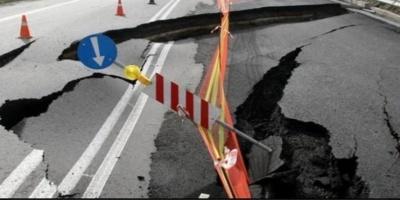 Καθίζηση οδοστρώματος στην Αθηνών-Κορίνθου: Δέκα αυτοκίνητα έμειναν από λάστιχο