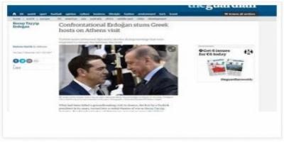 Τα διεθνή ΜΜΕ για την επίσκεψη Ερντογάν: Σόου της Τουρκίας σε ευρωπαϊκό έδαφος