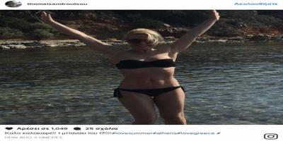 Την έπιασαν οι ζέστες: Βουτιά στη Βουλιαγμένη έκανε γνωστή ηθοποιός