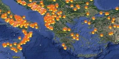 Εξήντα επτά πυρκαγιές εκδηλώθηκαν το τελευταίο 24ωρο